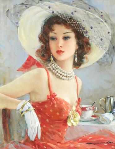 Konstantin Razumov (Russian, born 1961) Portrait of a lady