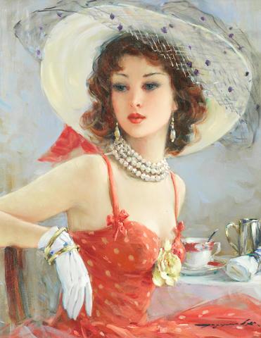 Konstantin Razumov (Russian, born 1961) Portrait of a lady