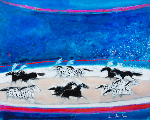 ANDRE BRASILIER (born 1929) Cavalcade au cirque (Painted in 2016)