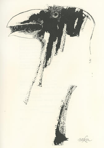 HUGHES (TED) Crow. From the Life and Songs of the Crow, NUMBER 242 OF 400 COPIES, SIGNED BY THE AUTHOR AND ILLUSTRATOR, Faber and Faber, 1973