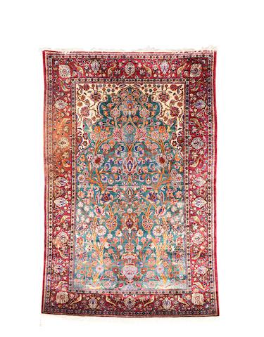 A Silk Kashan Rug Central Persia,  156cm x 104cm