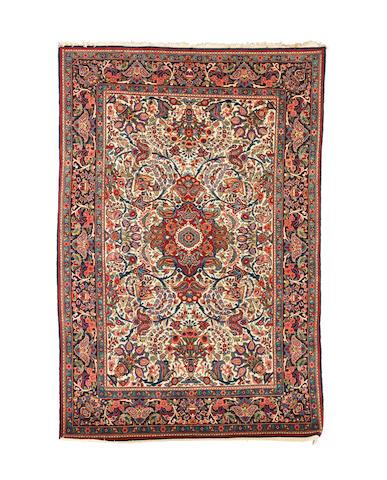 A Kashan rug  Central Persia, 206cm x 137cm