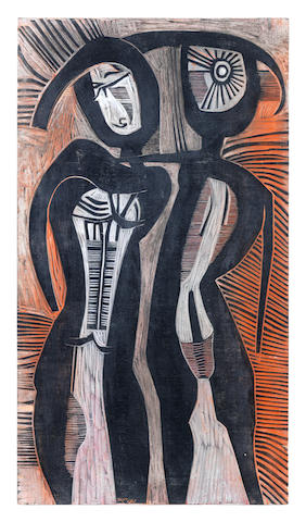 Cecil Edwin Frans Skotnes (South African, 1926-2009) A couple