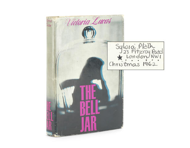 "PLATH (SYLVIA) The Bell Jar, FIRST EDITION, SYLVIA PLATH'S OWN COPY SIGNED AND DATED ""CHRISTMAS 1962"", WITH HER FITZROY ROAD ADDRESS  on the front free paper, Heinemann, [1963]"