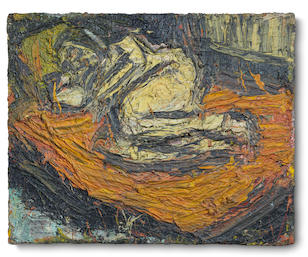 Leon Kossoff (British, born 1926) Nude on a Red Bed No. 3 1968