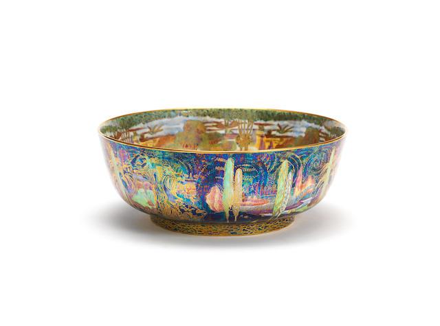 A Daisy Makeig-Jones 'Woodland Elves V' Fairyland Lustre Imperial Bowl for Wedgwood PRINTED WEDGWOOD MARKS; CIRCA 1925