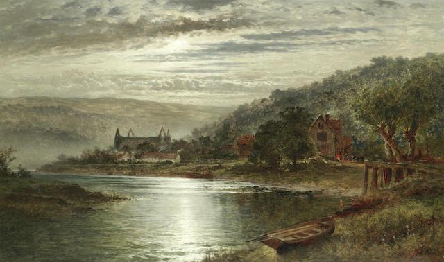 Benjamin Williams Leader, RA (British, 1831-1923) 'The Wye at Tintern'