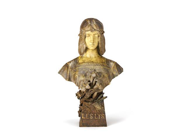 'pureté' a large goldscheider art nouveau painted terracotta study by villieu for Goldscheider ARTIST AND MARKER'S MARKS, CIRCA 1900