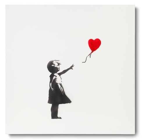 Banksy (British, born 1975) Girl and Balloon 2003
