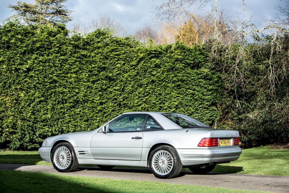 From the estate of the late John Young,1996 Mercedes-Benz  500 SL Convertible with Hardtop  Chassis no. WDB1290672F136603