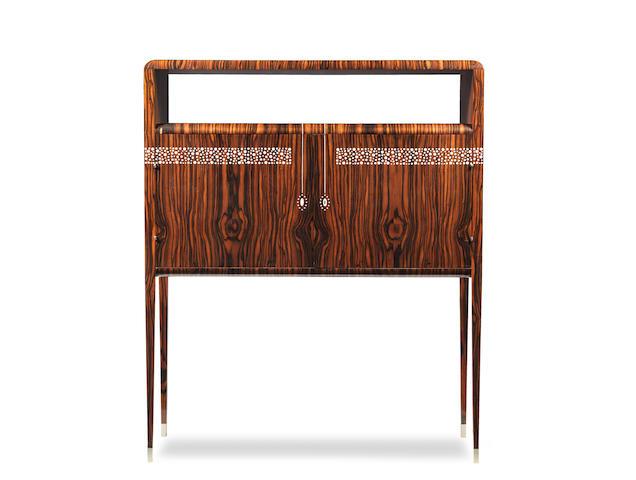 Studio of Émile-Jacques Ruhlmann (French, 1879-1933); An Art Deco Cabinet Bar BRANDED SIGNATURE; CIRCA 1930