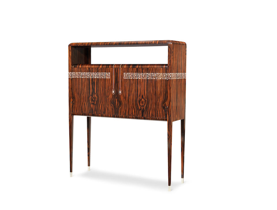 Studio of Émile-Jacques Ruhlmann (French, 1879-1933); An Art Deco Cabinet Bar BRANDED SIGNATURE; CIRCA 1930