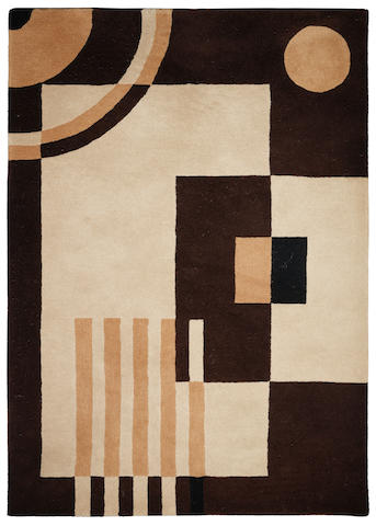 a large geometric hand-tufted wool rug in the art deco style UNSIGNED, TWENTY-FIRST CENTURY