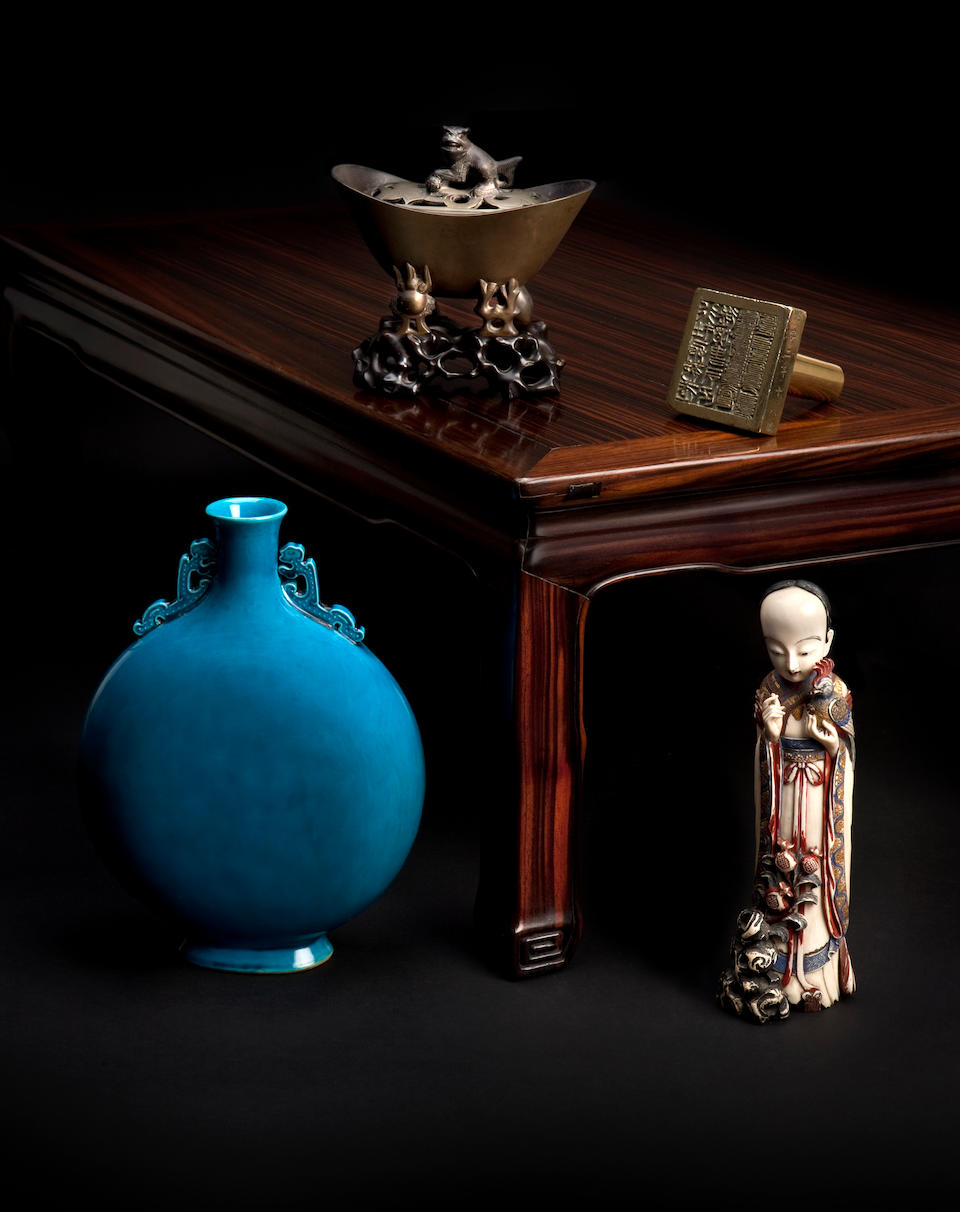A coromandel low table Qing Dynasty