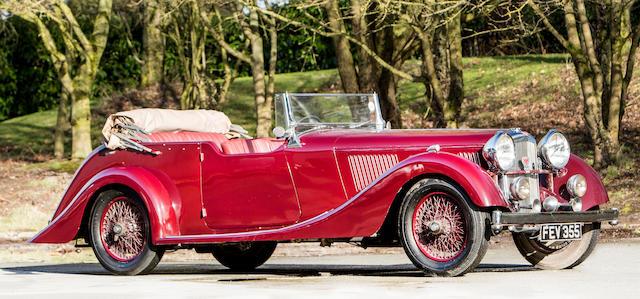 1937 Alvis 3½-Litre 'Alwil Continental Tourer'  Chassis no. 14307