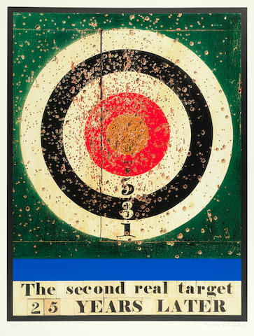 Sir Peter Blake (British, born 1932) The Second Real Target 25 Years Later Screenprint in colours with glaze and embossing, 2009, on wove, signed and numbered 76/100 in pencil, published by CCA Galleries, London, with the publisher's blindstamp, with full margins, 1105 x 885mm (43 1/2 x 34 5/8in)(SH)(unframed)
