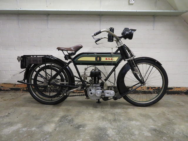 Property of a deceased's estate, c.1913 BSA 3½hp Frame no. None visible Engine no. 5542/13 5432
