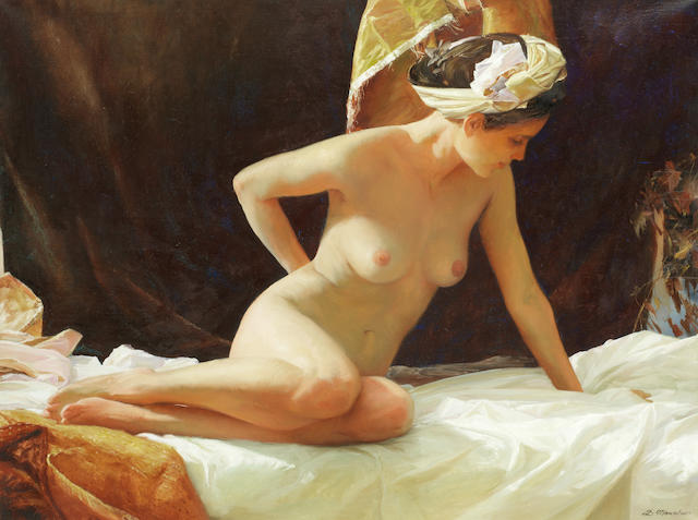 Sergey Marshennikov (Russian, born 1971) Seated nude