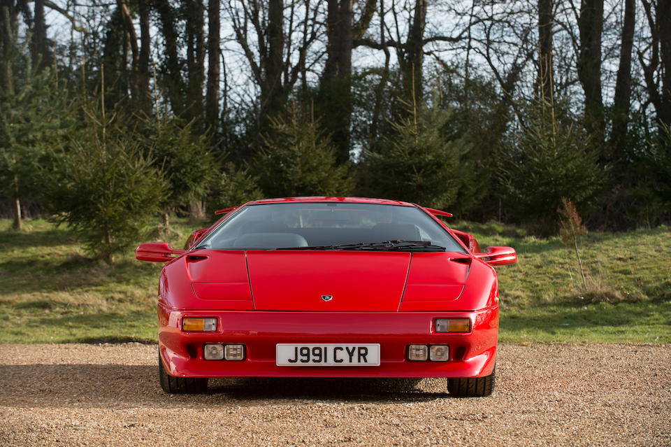 First owned by Sir Rod Stewart,1991 Lamborghini Diablo Coupé  Chassis no. NLA12312
