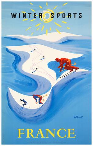 VILLEMOT, Bernard (1911-1989) WINTER SPORTS FRANCE