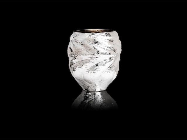 NDIDI EKUBIA: A Britannia standard silver vase, titled 'Vase 3' London 2009