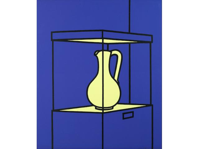 Patrick Caulfield (British, 1936-2005) Vase on Display Screenprint in colours, 1971, on wove, signed and numbered 9/100 in pencil, printed by Kelpra Studio, London, published by Leslie Waddington Prints, London, with full margins, 660 x 559mm (26 x 22in)(SH)