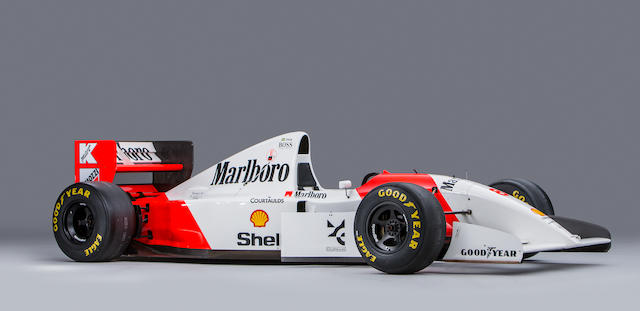The record breaking Ex-Ayrton Senna 1993 Monaco Grand Prix-winning,1993 McLaren-Cosworth Ford MP4/8A Formula racing Single-Seater  Chassis no. MP4/8-6 Engine no. 510