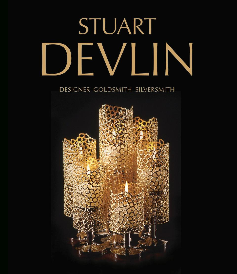 STUART DEVLIN: A silver and silver-gilt filigree tall decanter London 1981