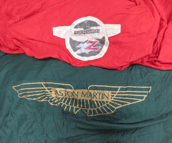 Two Aston Martin car covers for Virage and Zagato models,   ((2))
