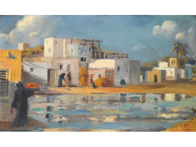 Mahmoud Said (Egypt, 1897-1964) Le Canal de Mahmoudieh