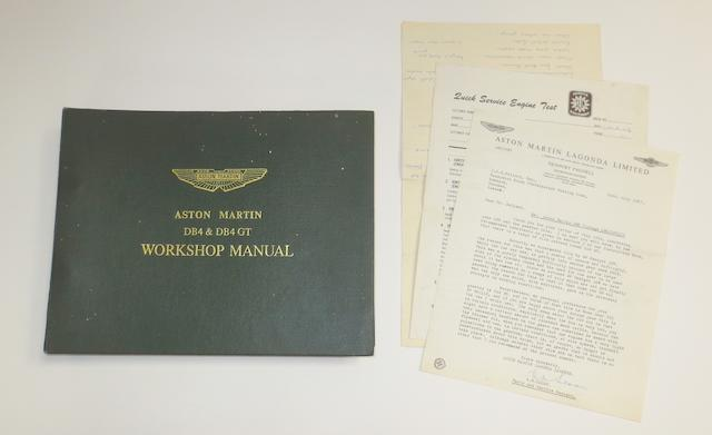 An Aston Martin DB4 & DB4GT Workshop manual,  ((Qty))