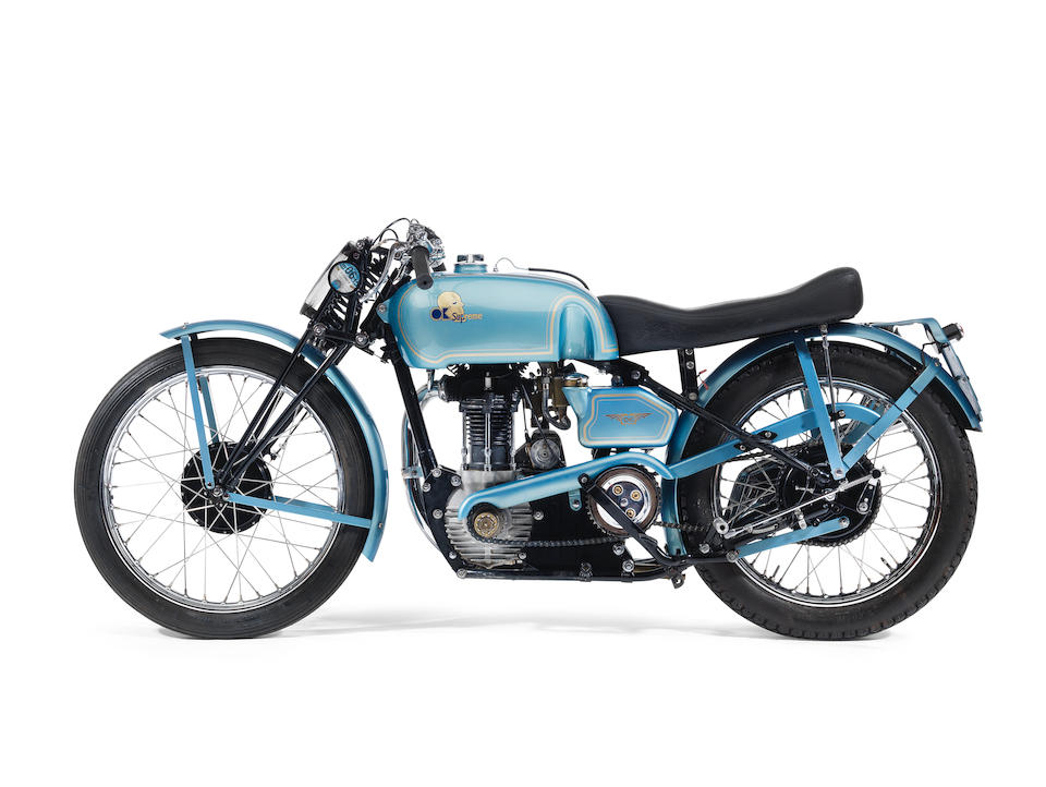 ,1939 OK-Supreme 344cc Road Racing Special Frame no. 26068 and 924180 (see text) Engine no. SOS/G 60905/6 (see text)
