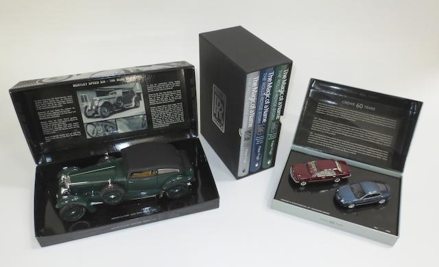 A 1:18 scale die-cast model of the Bentley 6.5 Litre 'Blue Train Special', by Minichamps,   ((3))
