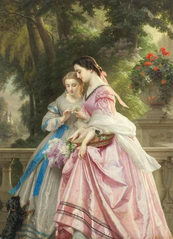 Josephus Laurentius Dyckmans (Belgian, 1811-1888) He loves me, he loves me not