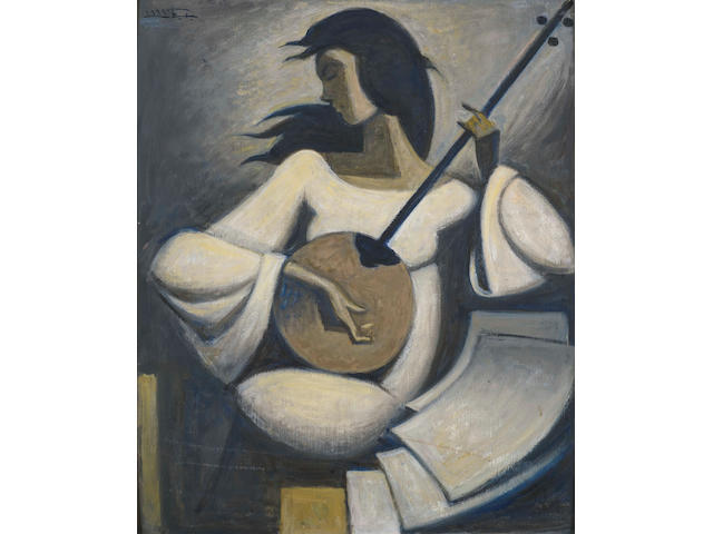 Hussein Bicar (Egypt, 1913-2002) The Tamboura Player
