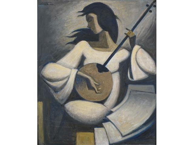 Hussein Bicar (Egypt, 1913-2002) The Tamboura Player