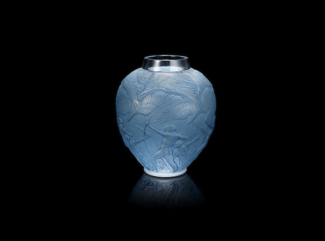 René Lalique (French, 1860-1945); An 'Archers' Vase MOULDED 'R.LALIQUE' SIGNATURE; PRE 1945