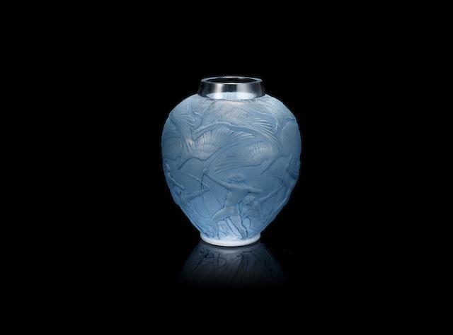René Lalique (French, 1860-1945); An 'Archers' Vase MOULDED 'R.LALIQUE' SIGNATURE; PRE 1945
