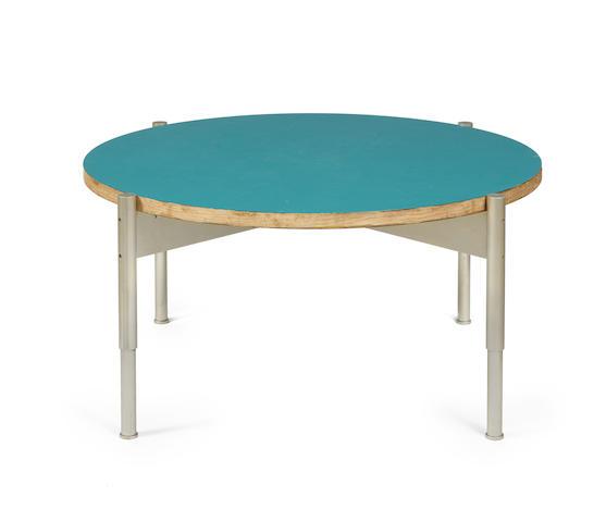 Gio Ponti (Italian 1891-1979) Circular table for Grand Hotel Parco dei Principi, Rome, designed and made 1964 laminated birch, formica, tubular metal