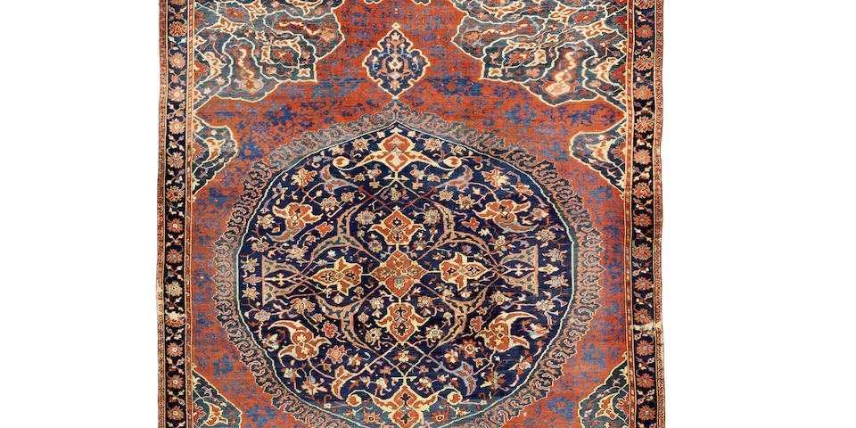 An exceptional early 16th century Ushak Medallion Carpet West Anatolia, 430cm x 225cm