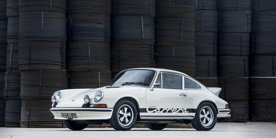 One of only 4 examples delivered new in France,1973 Porsche 911 2.7 Carrera RS Touring Sunroof Coupé  Chassis no. 911 360 1141