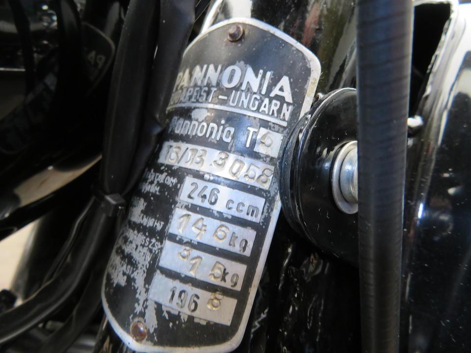 1968 Pannónia 246cc T5 Frame no. T58083058 Engine no. 8083058