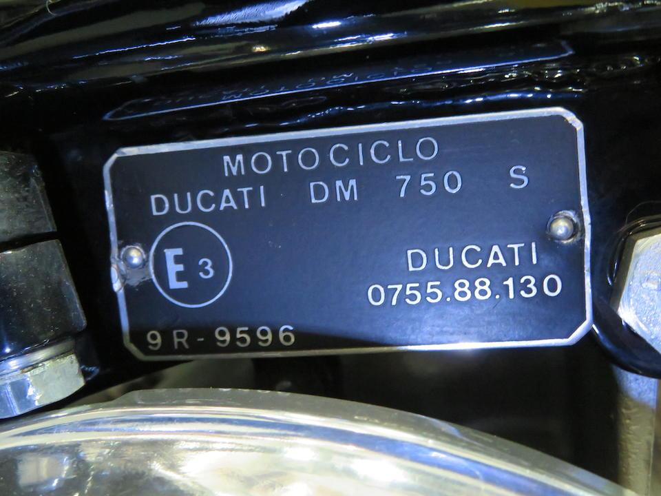 1974 Ducati 750 GT Frame no. DM750S 754889 Engine no. 754506 DM750