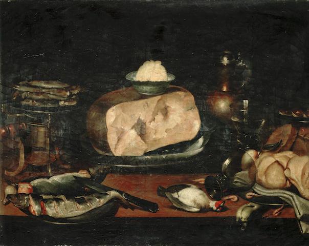 Eduardo Zamacois y Zabala (Spanish, lived circa 1841-1871) Well stocked larders; a pair