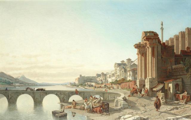 François Antoine Bossuet (Belgian, 1800-1889) La porte Romaine a Cordoue