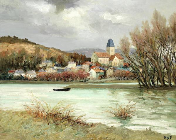 Marcel Dyf (1899-1985) 'La Seine à Verneuil' (Painted in 1969)