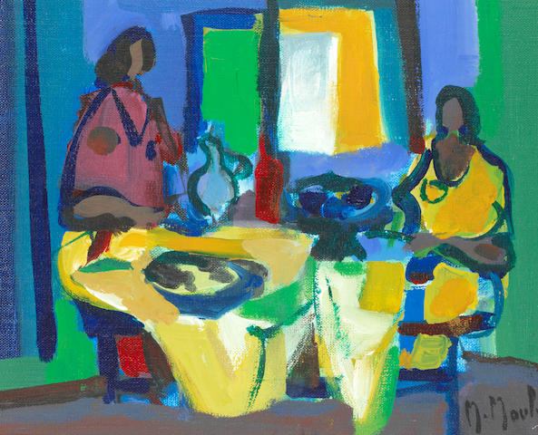 Marcel Mouly (1918-2008) 'Le goûter' (painted in 1987)