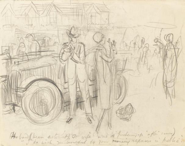 E.H. Shepard (British, 1879-1976), 'Running Repairs', 1920s,