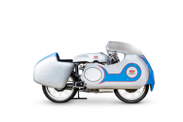 The ex-works, Cecil Sandford, World Championship-winning, 1957 F.B. Mondial 250cc DOHC Grand Prix Racing Motorcycle Frame no. 111 Engine no. 111