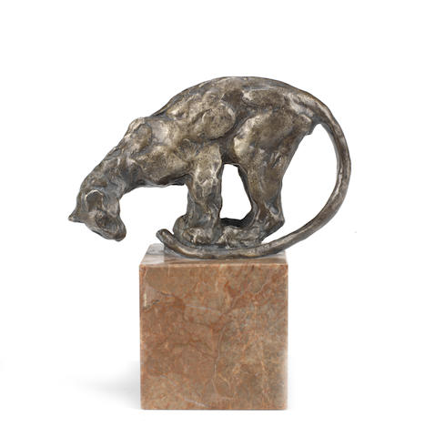 A bronze 'Jaguar' mascot by Francois Pompon, French, 1920s,